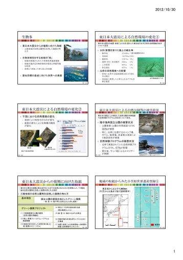 干潟における自然環境の変化 陸中海岸国立公園の被害状況 自然体験 ...