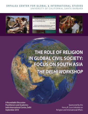 focus on south asia the delhi workshop - Global and International ...