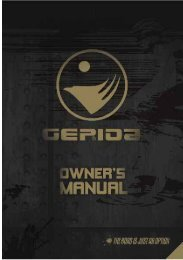 Yamaha PAS-equipped pedelec user's manual - Gepida