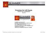 Preisliste für LED Spots - GLAMMER Industriebedarf KG