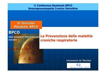 La Prevenzione delle malattie croniche respiratorie - GOLD