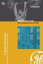 Energieverteiler Typ SEK Main distribution board type SEK