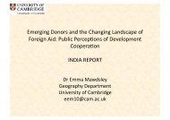 Presentation - University of Cambridge Department of Geography