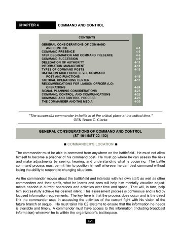 general considerations of command and control - GlobalSecurity.org