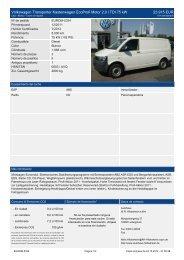 Volkswagen Transporter Kastenwagen Ecoprofi Motor 2 l TDI 75 kw