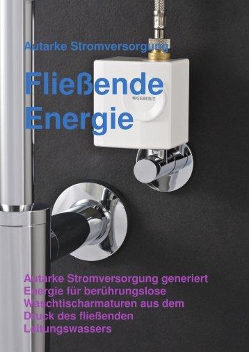 Geberit Waschtisch Generator - Das Mikrokraftwerk unterm Waschtisch
