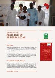 ÄRZTE HELFEN IN SIERRA LEONE - Gemeinsam für Afrika