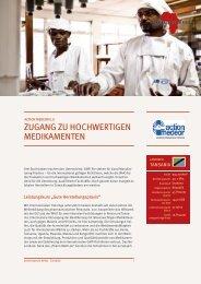 zugang zu hochwertigen medikamenten - Gemeinsam für Afrika