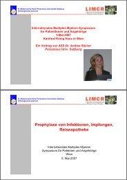 Prophylaxe von Infektionen, Impfungen, Reiseapotheke