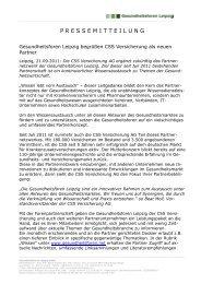 P R E S S E M I T T E I L U N G - Gesundheitsforen Leipzig GmbH