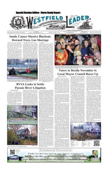 12nov01 newspaper - The Westfield Leader