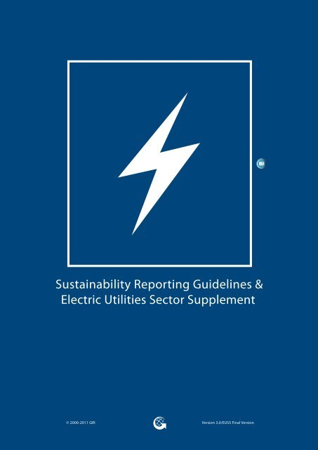 Electric Utilities Sector Supplement - Global Reporting Initiative