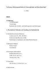 Vorlesung ?Datierungsmethoden in Geomorphologie und ...