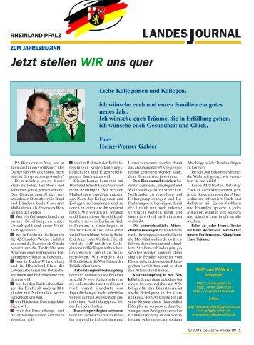 Journal Januar 200 - gdp-deutschepolizei.de
