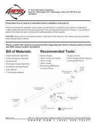 Recommended Tools: Bill of Materials: - APR