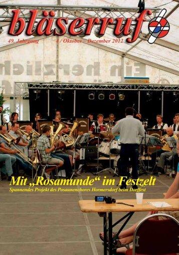 """Mit """"Rosamunde"""" im Festzelt - Gnadauer Posaunenbund"""