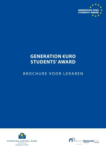 Generation ?uro StudentS' award - the Generation ?uro Students ...