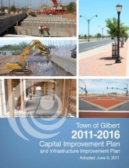 2011 – 2016 Capital Improvement Plan - Town of Gilbert
