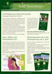 Newsletter Mai 2011 - Golfclub am Meer