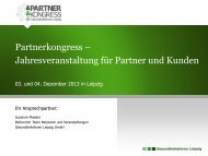 Informationen zum Partnerkongress - Gesundheitsforen Leipzig GmbH