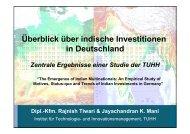 Indische ADI in Deutschland - Global Innovation