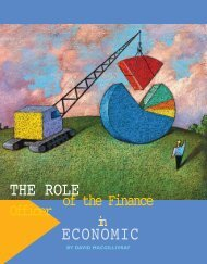 THE ROLE ECONOMIC - Government Finance Officers Association