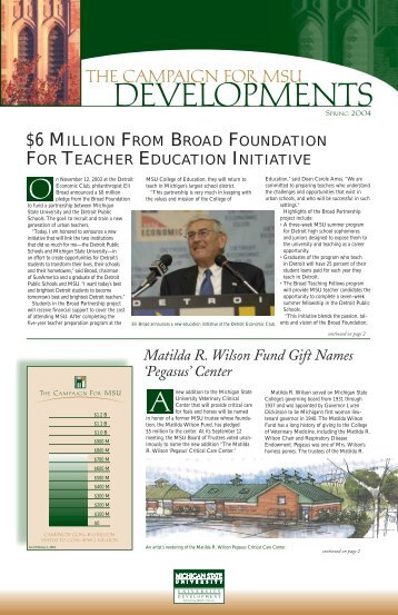 Spring 2004 - Giving to MSU - Michigan State University