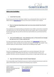 FAQs to the Live Bidding - Gorny & Mosch GmbH
