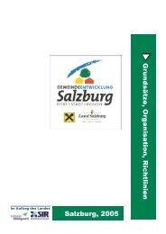 Salzburg, 2005 Grundsätze, Organisation, Richtlinien