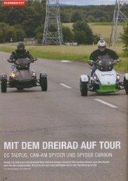 Mit dem Dreirad auf Tour ( Quad Magazin 2012 ) - GG Technik