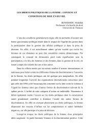 LES DROITS POLITIQUES DE LA FEMME - Cawtar clearing house ...