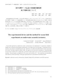 The experimental device and the method for ocean field ...