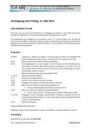 Fachtagung vom Freitag, 11. Mai 2012 - gdi