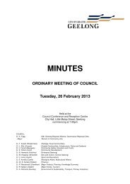 Council Minutes - 26 February 2013 - City of Greater Geelong