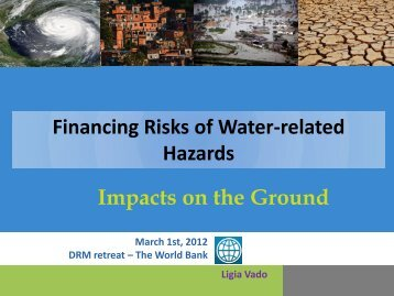 Financing Risks of Water-related Hazards Impacts on the ... - GFDRR