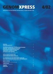 Download GENOMXPRESS 4/2002