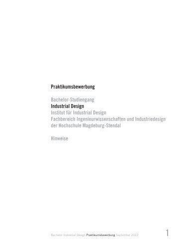 Tipps zur Bewerbung - Institut für Industrial Design - Hochschule ...