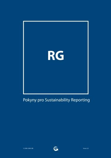 Pokyny pro Sustainability Reporting - Global Reporting Initiative