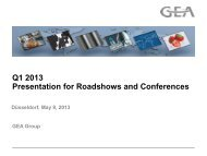Q1 2013 Presentation for Roadshows and Conferences - GEA Group