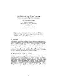 Von E-Learning zum Blended Learning Trends und ... - Die GIL