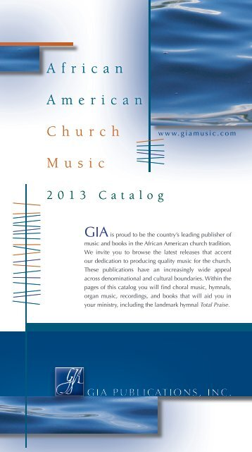 AACMS 2013 Catalog - GIA Publications