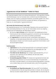 Jugendschutz mit der GeldKarte – Fakten im Fokus - Initiative ...