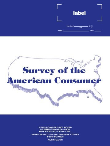 Survey of the American Consumer - GfK MRI