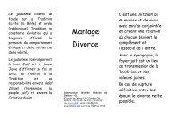 04 Mariage, divorce.pdf - Communauté Israélite Libérale de Genève