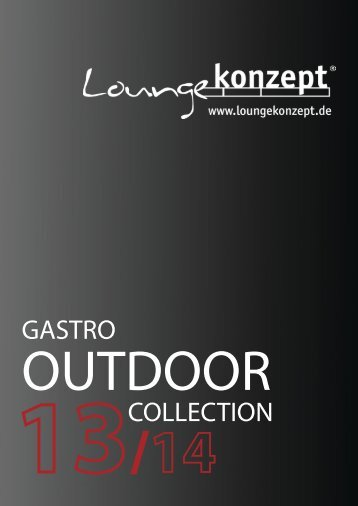 Loungekonzept GASTRO OUTDOOR COLLECTION
