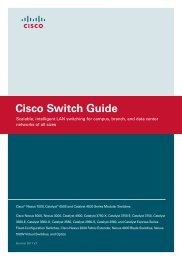 Cisco Catalyst Switch Guide - goCCTV
