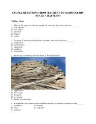 sample questions from sediment to sedimentary rock