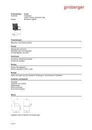 Ausschreibungstext Freischwinger (pdf) - Girsberger