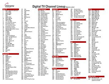 photo about Spectrum Channel Lineup Printable called Spectrum Channel Listing
