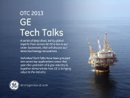 Tech Talks at GE Booth - GE Energy